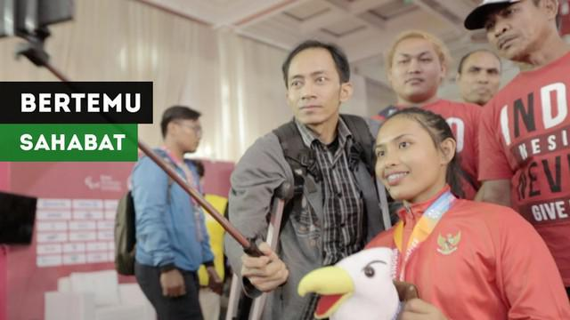 Berita video kisah pertemuan atlet para powerlifting Indonesia, Ni Nengah Widiasih, dengan sahabat lama, Agas, setelah 14 tahun berpisah. Pertemuan mereka setelah Ni Nengah Widiasih berlaga di Asian Para Games 2018, Minggu (7/10/2018).