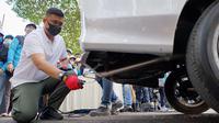 Wali Kota Medan, Bobby Nasution, turun langsung melakukan uji emisi kendaraan