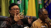 Mendagri Tjahjo Kumolo dalam Rapat Koordinasi Gubernur se-Indonesia, di kantornya, Jakarta, Kamis (24/11/2016). (Faizal Fanani/Liputan6.com)