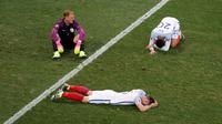 Inggris dipaksa pulang kampung setelah takluk 1-2 dari Islandia pada babak 16 besar Piala Eropa 2016, Selasa (28/6/2016) dini hari WIB. (Reuters/Yves Herman)