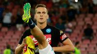 Striker Napoli asal Polandia, Arkadiusz Milik. (AFP/Carlo Hermann)