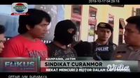 Aparat Polres Sampang, Madura, Jawa Timur menangkap lima tersangka sindikat pencurian dan penadah sepeda motor.