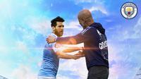 Manchester City - Ilustrasi Lionel Messi Jersey Manchester City (Bola.com/Adreanus Titus)