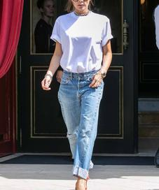Victoria Beckham with Jeans and Heels - Photo: whowhatwear