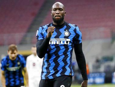 Foto Liga Italia: Romelu Lukaku Borong 2 Gol, Inter Milan Milan Comeback Gemilang atas Torino