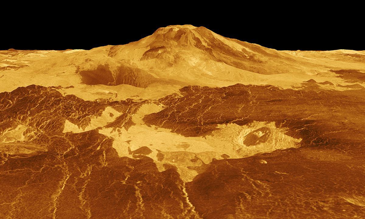 Permukaan Venus yang panas (NASA)