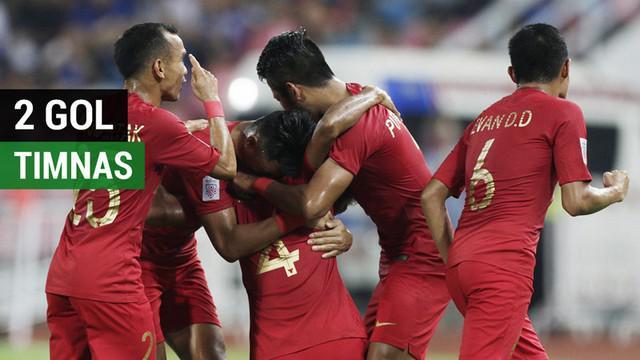 Berita video momen dua gol Timnas Indonesia ke gawang Thailand pada laga ketiga di Piala AFF 2018 di Stadion Rajamangala, Bangkok, Sabtu (17/11/2018).