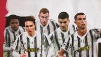 Cristiano Ronaldo, Alvaro Morata, Federico Chiesa, Dejan Kulusevski dan Weston McKennie. (Bola.com/Dody Iryawan)