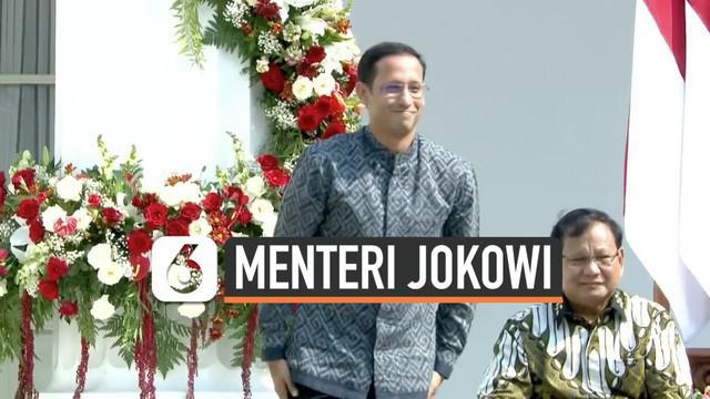 Nadiem Makarim resmi menjadi Menteri Pendidikan dan Kebudayaan (Mendikbud) di Kabinet Indonesia Maju. Ia dilantik oleh Presiden Joko Widodo di Istana Negara, Rabu (23/10/2019).