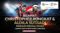 Selamat Meraih Medali Emas Aldilla Sutjiadi dan Christoper Benjamin Rungkat (Bola.com/Adreanus Titus)