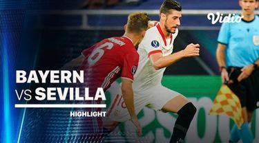 Berita Video highlights Super Cup, Bayern Munchen Juara Usai Kalahkan Sevilla 2-1