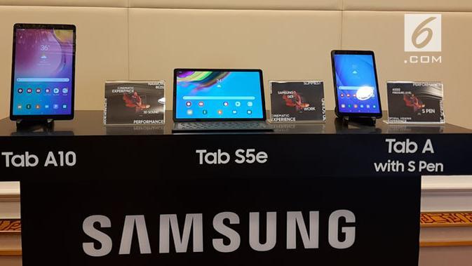 Samsung resmi mengungkap seri Galaxy Tab terbaru di Thailand. (Liputan6.com/ Devira Prastiwi)