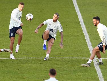 Timnas Spanyol Bersiap Jelang Hadapi Jerman di UEFA Nations League