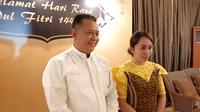 Ketua DPR RI saat menggelar open house di kediamannya, Jalan Widya Chandra III, Kebayoran Baru, Jakarta Selatan. (Liputan6.com/Yopi Makdori)