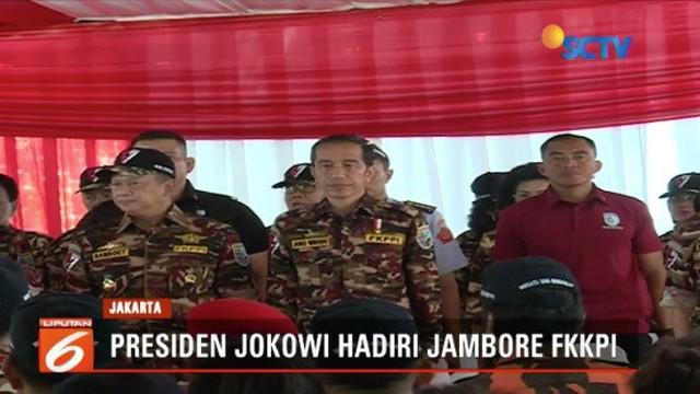 Resmikan Jambore Kebangsaan Bela Negara, Presiden Jokowi tegaskan tidak ada ruang bagi ideologi selain Pancasila.