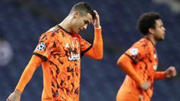 Tren buruk Cristiano Ronaldo menghadapi FC Porto berlanjut usai Juventus tumbang 1-2 pada leg pertama babak 16 besar Liga Champions. (AP Photo/Luis Vieira)