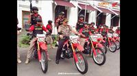 Honda CRF 150L digunakan tim anti bandit epolisian Resor Kota Surabaya, Jawa Timur. (Instagram @mpmhondajatim)