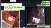 Obrolan Lucu Kurir Dengan Pelanggan Ini Bikin Senyum-Senyum (sumber:Twitter/@asriism)
