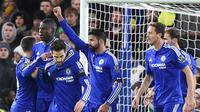 Gelandang Tottenham Hotspur, Christian Eriksen, tak ingin meremehkan Chelsea dalam laga bertajuk derbi London di White Hart Lane, Minggu (29/11/2015) malam WIB. (AFP/OLLY GREENWOOD)
