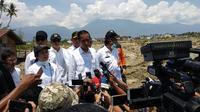 Menko PMK dampingi Presiden kunjungi korban bencana Sulteng.