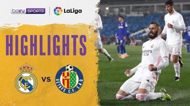 Berita video highlights Liga Spanyol, Real Madrid Vs Getafe, Rabu (10/2/21)