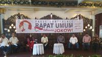 Gabungan relawan Jokowi akan berkumpul di Sentul, Sabtu besok.
