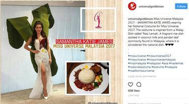 Miss Universe Malaysia 2017 Gaun Nasi Lemak
