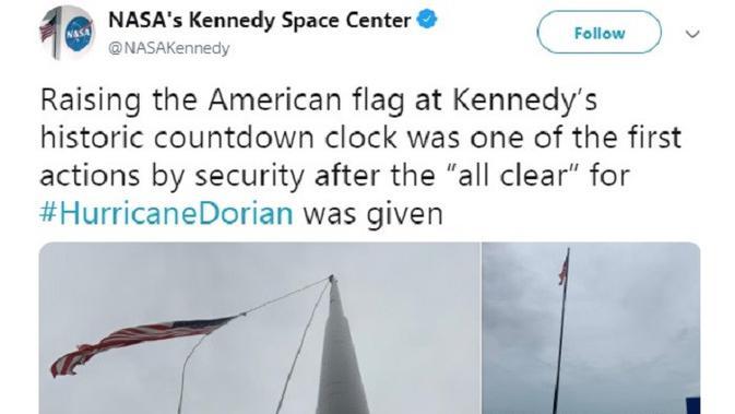 Kennedy Space Center dihantam Badai Dorian. (Twitter @NASAKennedy)