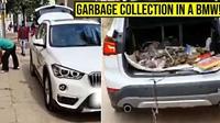 BMW X1 Dijadikan Mobil Pengangkut Sampah oleh Pemiliknya (Cartoq)