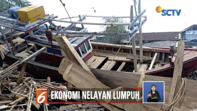 Kehilangan mata pencaharian karena tsunami Selat Sunda, ribuan nelayan di Labuan, Banten, minta bantuan Menteri Perikanan Susi Pudjiastuti.