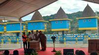 Presiden Joko Widodo (Jokowi) meresmikan Bendungan Rotiklot yang terletak di Kabupaten Belu, Nusa Tenggara Timur (NTT), Senin (20/5/2019).