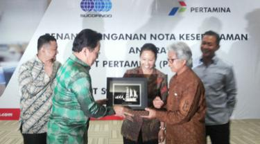 PT Pertamina (Persero) hari ini menandatangani nota kesepahaman dengan PT Sucofindo (Persero).