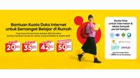 Bantuan kuota data internet dari Indosat Ooredoo.