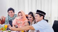 Ilustrasi suasana ramadan di rumah.