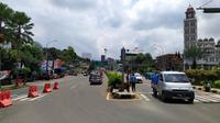 Ilustrasi Lalin Lancar Jalur Puncak, Bogor, Jabar. (Liputan6.com/Achmad Sudarno)