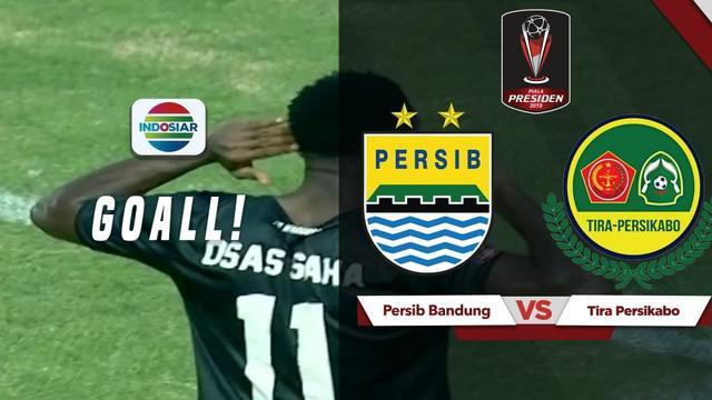 Berita video gol kedua pemain PS Tira Persikabo, Osas Saha, ke gawang Persib Bandung pada laga pembuka Piala Presiden 2019 di Stadion Si Jalak Harupat, Sabtu (2/3/2019).