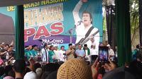 Calon Presiden, Prabowo Subianto, di Markas Soneta, Jalan Tole Iskandar, Depok, Jawa Barat, Minggu (28/10/2018). (Liputan6.com/Nafiysul Qodar)