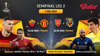 Streaming Liga Europa Semifinal Leg Kedua di Vidio. (Sumber : dok. vidio.com)