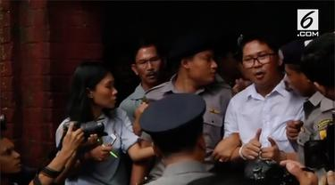 Pengadilan Myanmar menjatuhkan vonis tujuh tahun penjara kepada dua jurnalis kantor berita Reuters karena kepemilikan ilegal atas dokumen-dokumen resmi pemerintah negara itu.