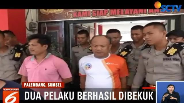 Setelah sempat melarikan diri, tersangka penganiayaan bernama Sani dan anaknya Lukman berhasil dibekuk Tim Reskrim Polsek Seberang Ulu Dua.