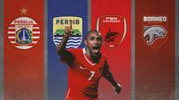 Ilustrasi - Boas Solossa, Persija Jakarta, Persib Bandung, PSM Makassar, Borneo Samarinda (Bola.com/Adreanus Titus)
