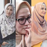Deretan artis yang memakai ciput rajut. (Image: Instagram/Bintang.com)