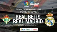 La Liga_Real Betis vs Real Madrid (Bola.com/Adreanus Titus)