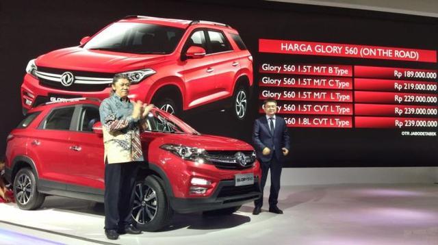 DFSK Gloty 560 resmi diperkenalkan dengan harga tertinggi Rp239 juta. (Septian P/Liputan6.com)