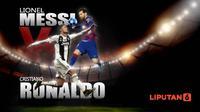 Statistik terkini Lionel Messi vs Cristiano Ronaldo (Liputan6.com/Abdillah)