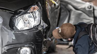 Kondisi Mobil yang Dikendarai 6 Anggota Laskar FPI