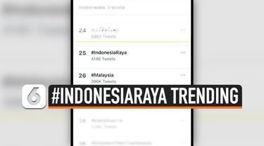 Pasca lagu parodi Indonesia Raya yang berisi hinaan viral di media sosial, netizen ramai-ramai buka suara lewat tagar #IndonesiaRaya dan #Malaysia hingga jadi trending topic di Twitter.