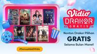 Daftar drama Korea gratis yang tayang di platform streaming Vidio sepanjang Maret 2021. (Dok. Vidio)