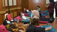 Donor darah pegawai Kemhan di Jakarta, Jumat (20/3/2020). (Ist)