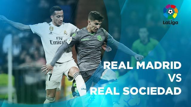 Berita video statistik Real Madrid vs Real Sociedad pada laga pekan ke-18, Senin (7/1/2019).